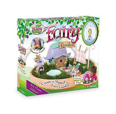 Fairy Garden Flower Edition Kit Kids Fun Grow And Play Magical Dust Included