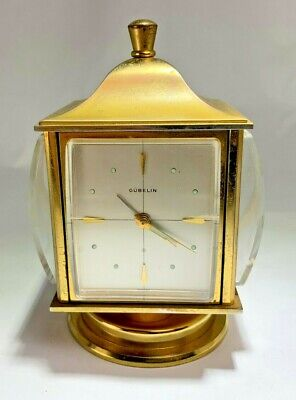 Vintage Angelus Swiss Table Clock 8 Day Movement Alarm Weather Station