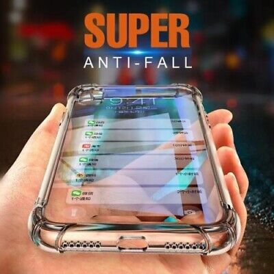 For iPhone X XR Xs Max Clear Silicone Transparent Slim Gel TPU Rubber Case