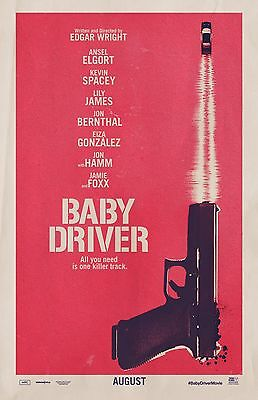 "Baby Driver movie poster  -  11"" x 17"" inches - Ansel Elgort, Kevin Spacey"