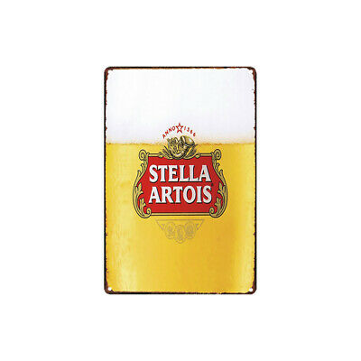 Metal Tin Sign stella artois  beer  Decor Bar Pub Home Vintage Retro
