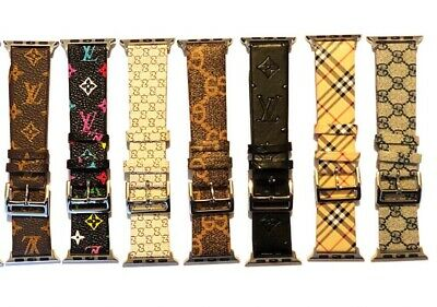 Apple Watch LV Gucci Burberry Band Strap Grid Pattern Apple watch 1/2 3/4