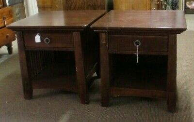 Cherry End Tables 1 Drawer American Signature Brand Modern