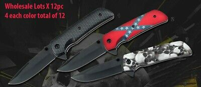 """Wholesale Lot 12Pc 8"""" Spring Assisted Tactical Pocket Folding Knife-005"""