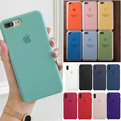 Original Silicone Funda Cover Case Para Apple iPhone XS Max X XR 8 7 6S 6+Plus