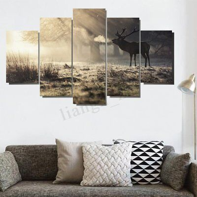 Huge Elk Art Oil Paintings Modern Canvas Print Wall Unframed Pictures Home Decor