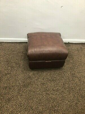 Sofology Eiger Storage Footstool Portofino Cigar In Leather Rrp £399.99