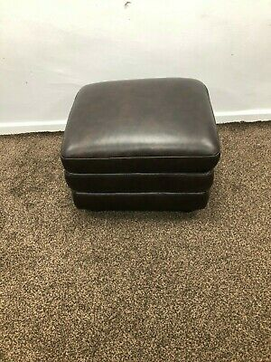 Sofology Burton Storage Footstool In Leather Plazzo Dark Brown Rrp £399.99