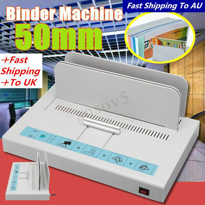 50mm Desktop Electric Hot Melt Glue Book Binding Binder Machine for A4 220V