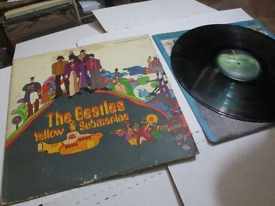 The Beatles Yellow Submarine Lp Sw-153 Early Apple Label Vg+ Exc