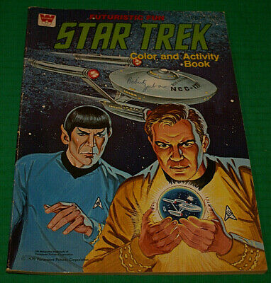Vintage Star Trek Coloring Book 1979 Out Of Print Whitman Books Used Fast Ship!!