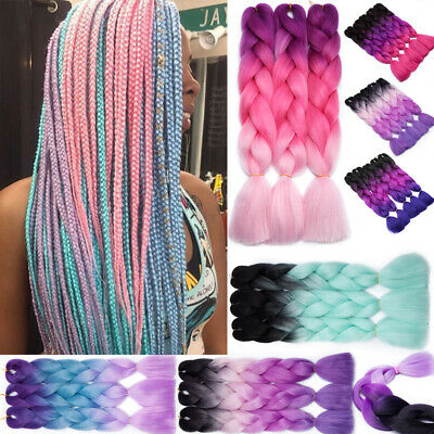 24'' Synthetic Afro Twist Braids Kanekalon Jumbo Braiding Ombre Hair Extensions