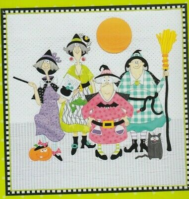 Witches - fun pieced & applique quilt PATTERN from Amy Bradley - 2 designs