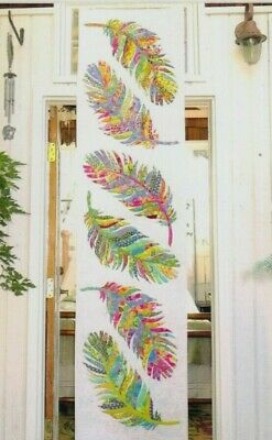 PATTERN - Dream Catcher - raw edge applique feathers bed runner PATTERN