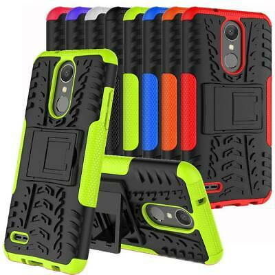 For LG Phoenix 4/Rebel 4/Fortune 2/Zone 4 Case Shockproof Hybrid Kickstand Cover