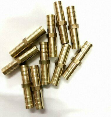 """5pcs 12mm 1/2""""PT Male Thread to Hose Barb Brass Straight Adapter Fitting"""