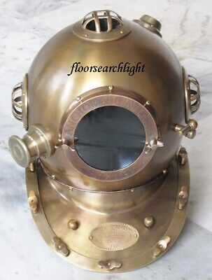 "Deep Sea Anchor Engineering 1921"" Mark IV Diving Divers Helmet Antique 18 Inch"