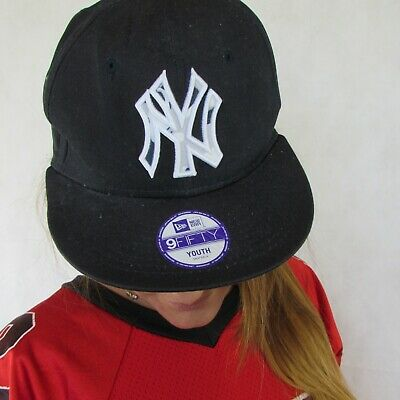 f092a726f9b72f New Era Ny 9Fifty New York Yankees Youth Mlb Baseball Hat Snapback Cap One  Size