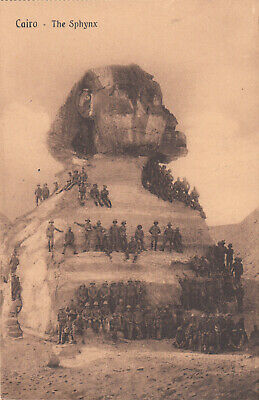 Carte postale OLD POST CARD EGYPTE EGYPT CAIRE CAIRO the sphynx english soldiers