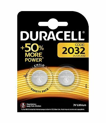 2 x DURACELL CR2032 3V LITHIUM BUTTON BATTERY COIN CELL Car Alarm Key Fob