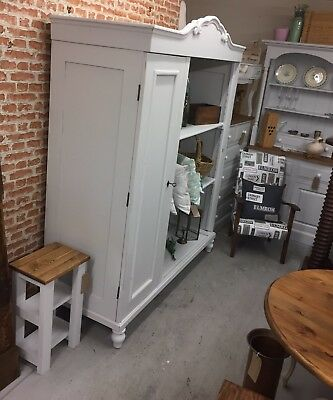 Antique French Armoire Linen Cupboard Wardrobe,Vintage,Kent Furniture Showroom