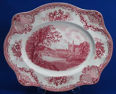 Johnson Bros Brothers Old Italian Castles Pattern Serving Tray - Red