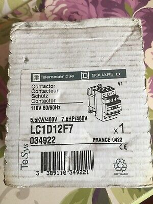 LC1 D12F7 25 Amp Telemecanique Contactor 110Volt Coil New Unused. And Boxed