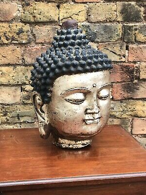 Buddha Head Cast Metal Large In Size