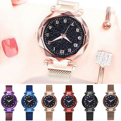Luxury Starry Sky Watch Magnet Straps Fashion Watches Magnetic Stainless Steel 1