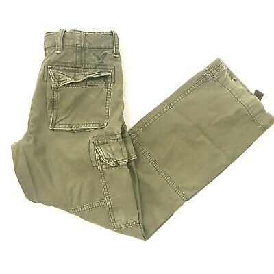 Vintage American Eagle Mens Military Cargo Pants Green Sz 32 x 30.5 (TAG 32x32)