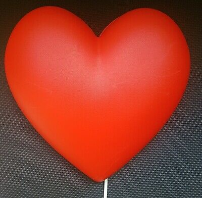 IKEA Smila Red Heart Wall Lamp