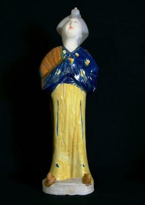 Vintage Chinese Pottery Ming Dynasty Style Statue 41cm Tall