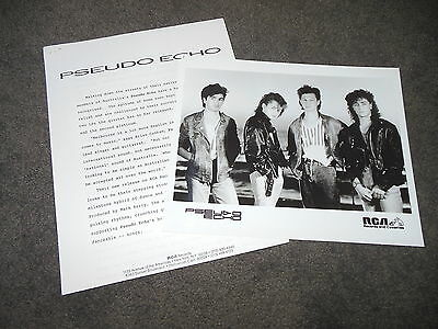 PSEUDO ECHO Love An Adventure Press Kit With 8x10 Promo Photo