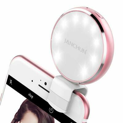 Selfie Ring Light, Rechargable Selfie LED Camera Light with 7 Light Colors and 3