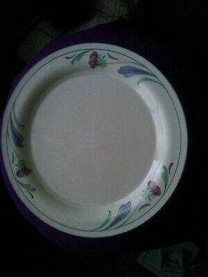 Lenox 10.75in Poppies on Blue Dinner Plate- Imperfect