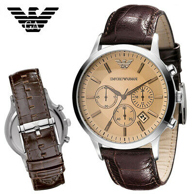 cheap sale buying now picked up NEW EMPORIO ARMANI AR2433 Luxury Mens Chronograph Watch ...