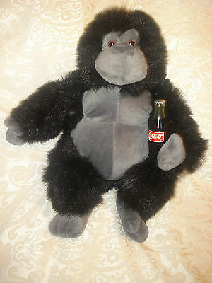 "1996 Coca Cola / Coke 16"" Plush Gorilla Monkey Stuffed Animal W/ Coke Bottle"