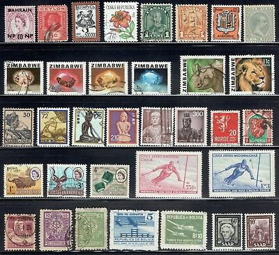 Worldwide Stamp Collection lot of  34 different Postage Stamps SL12