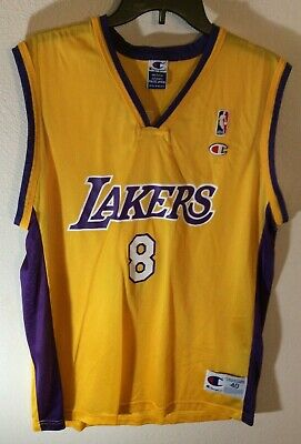 b794b6cd68a Champion Los Angeles Lakers Kobe Bryant 8 Jersey Size 40 M Rookie Retired  NBA