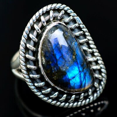 Huge Labradorite 925 Sterling Silver Ring Size 8.25 Ana Co Jewelry R943876 Fine Jewelry Fine Rings
