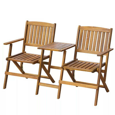 classic garden bench style durable solid acacia wood 140 x 60 x 88 cm new