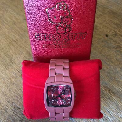 8141aebf9 Hello Kitty Watch Red Diamond at 40 minutes 40th Anniversary Limited Sanrio