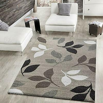 Beige Brown Woven Rug Modern Design Forest Carpet Thick Quality Large Small Mats