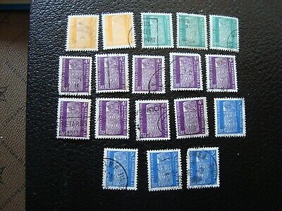 NOUVELLE-CALEDONIE - 18 timbres taxes obliteres (A37)