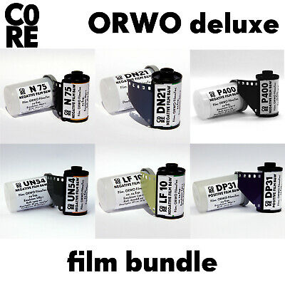 "35mm Film Kit • ""ORWO deluxe"" • black&white b/w schwarz/weiss NEW & FRESH FILM"