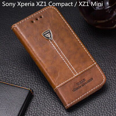 For Sony Xperia XZ1 Compact / XZ1 Mini Flip Leather Wallet Card Slot Case Cover