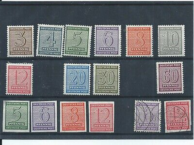 Germany stamps Allied Occupation Russian Zone 1945 West Saxony MH(E269