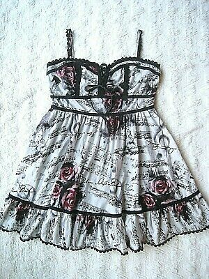 e144c7226c2b Hot Topic music note rose dress XL swing Rockabilly Flare corset punk rock  goth