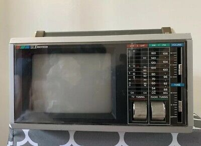 EMERSON PORTABLE 5.5 Inch VHF/UHF TV AM/FM RADIO WITH ORIGINAL BOX AND MANUAL!!