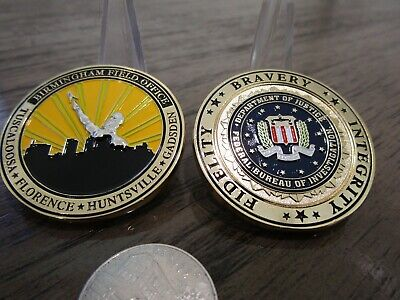 Federal Bureau of Investigation Birmingham Field Office FBI Challenge Coin